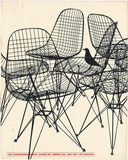 The Eames bird makes an appearance on the cover of a 1952 issue of Architectural Record.