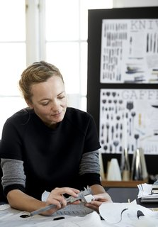 Danish-British designer Louise Campbell in her studio in Copenhagen. Photo by Neel Munte Brun.