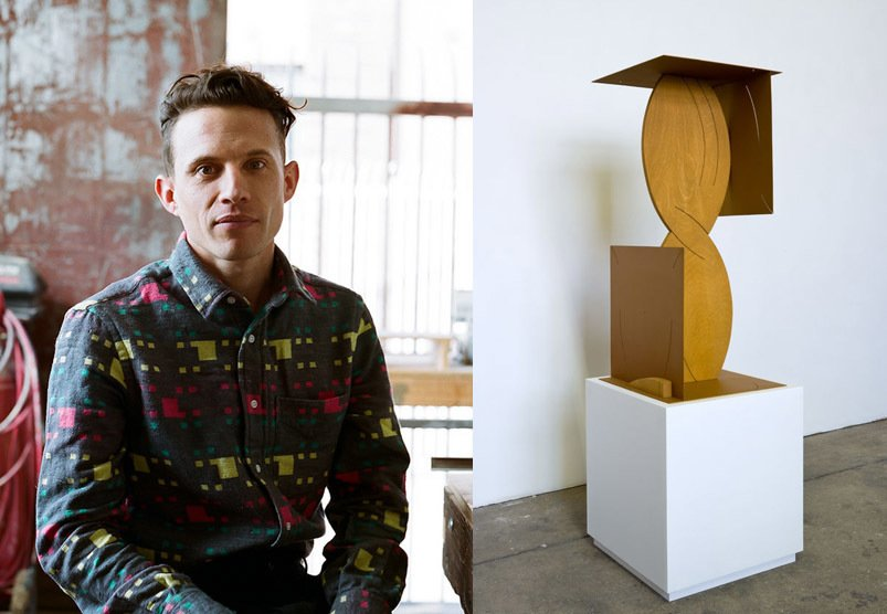 """Matt Paweski says of his sculptural work, which is influenced by two-dimensional drawing, that """"The sculptures build volume through slight shifts in plane, in physical cuts in material and the colors layered over them. The works continually reference aspects of furniture as a starting point, both structurally and materially.""""  Photo 1 of 9 in Artist to Watch: Matt Paweski"""