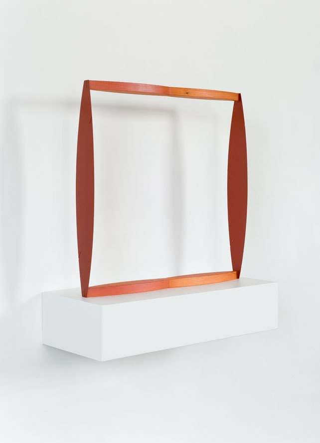 Matt Paweski's Square Knot (Red), 2014. Euro-beech hardwood, steel, copper rivets, enamel, and wax. Image courtesy of the artist and Herald St, London.  Photo 9 of 9 in Artist to Watch: Matt Paweski