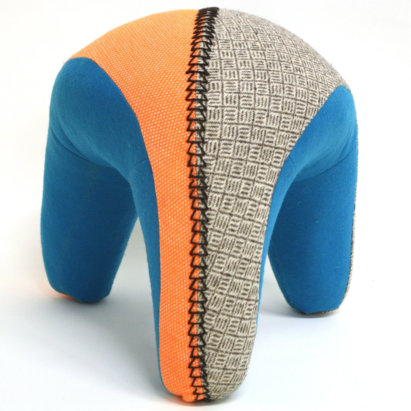 """Tanya Aguiñiga  Tanya Aguiñiga created the Chiapas stool after working with Mayan weavers in Mexico. """"The women create beautiful animals out of hand woven fabrics,"""" Aguiñiga says. """"These stools are inspired by the animals and are hand-woven fabric with a wool felt bottom.""""  Los Angeles Designers at Milan Design Week by Diana Budds"""