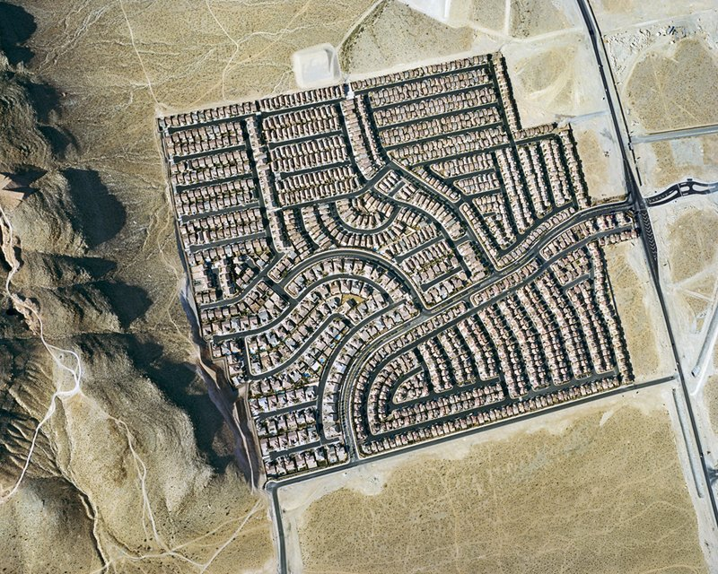 Nevada houses cluster inside a square frame. Photo by Christoph Gielen.  Photo 4 of 5 in Suburban Sprawl Photographed from Above