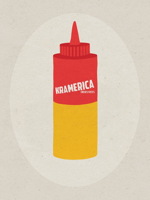 Artist Rinee Shah created a series of graphic posters inspired by Seinfeld's many food jokes, like a combination ketchup/mustard bottle. Buy the prints here.  Seinfood Posters by Aaron Britt from Graphic, Affordable Posters for Apartment Walls