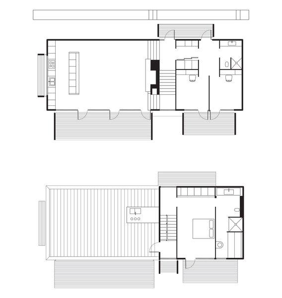 Fjällbacka House Floor Plan  A Kitchen  B Living-Dining Room  C Bedroom  D Bathroom  E Roof Deck  F Master Bedroom  G Master Bathroom