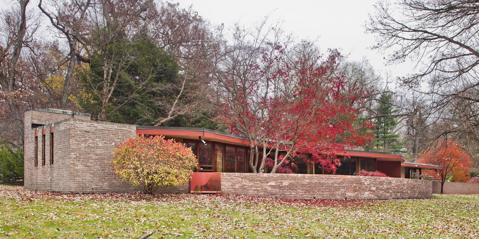 The Laurent House opens to the public for the first time on June 7 and will be open the first and last weekend of each month. Admission is $15. Photo courtesy of Wright Auction House.  Modern Master: Frank Lloyd Wright from Accessible Frank Lloyd Wright House in Illinois Is Reborn as a Museum