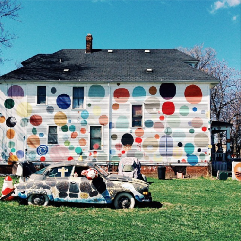 While in Detroit, we visited the Dotty-Wotty House from the Heidelberg Project, a public art initiative that has worked to reclaim the city's deteriorating McDougall-Hunt neighborhood. (1195 likes)