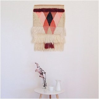 Textured, Woolen Tapestries Made of New and Vintage Yarn
