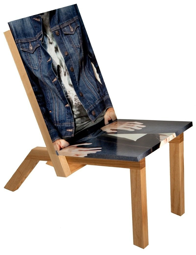 """Look-I-Like Chair by Christina Zeidler & Deanne Lehtinen   """"It's a torso and lap. The two women who work on this, multimedia artist Christina Zeidler and furniture maker Deanne Lehtinen, transformed this flat image into an object. I like the idea of a simulacra."""" -- Shaun Moore  Photo 6 of 10 in Shops We Love: MADE"""