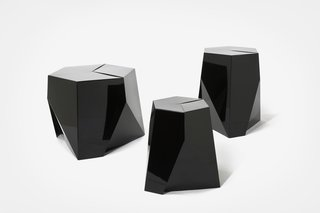 Another Weeks design: this trio of gemlike Folha tables.