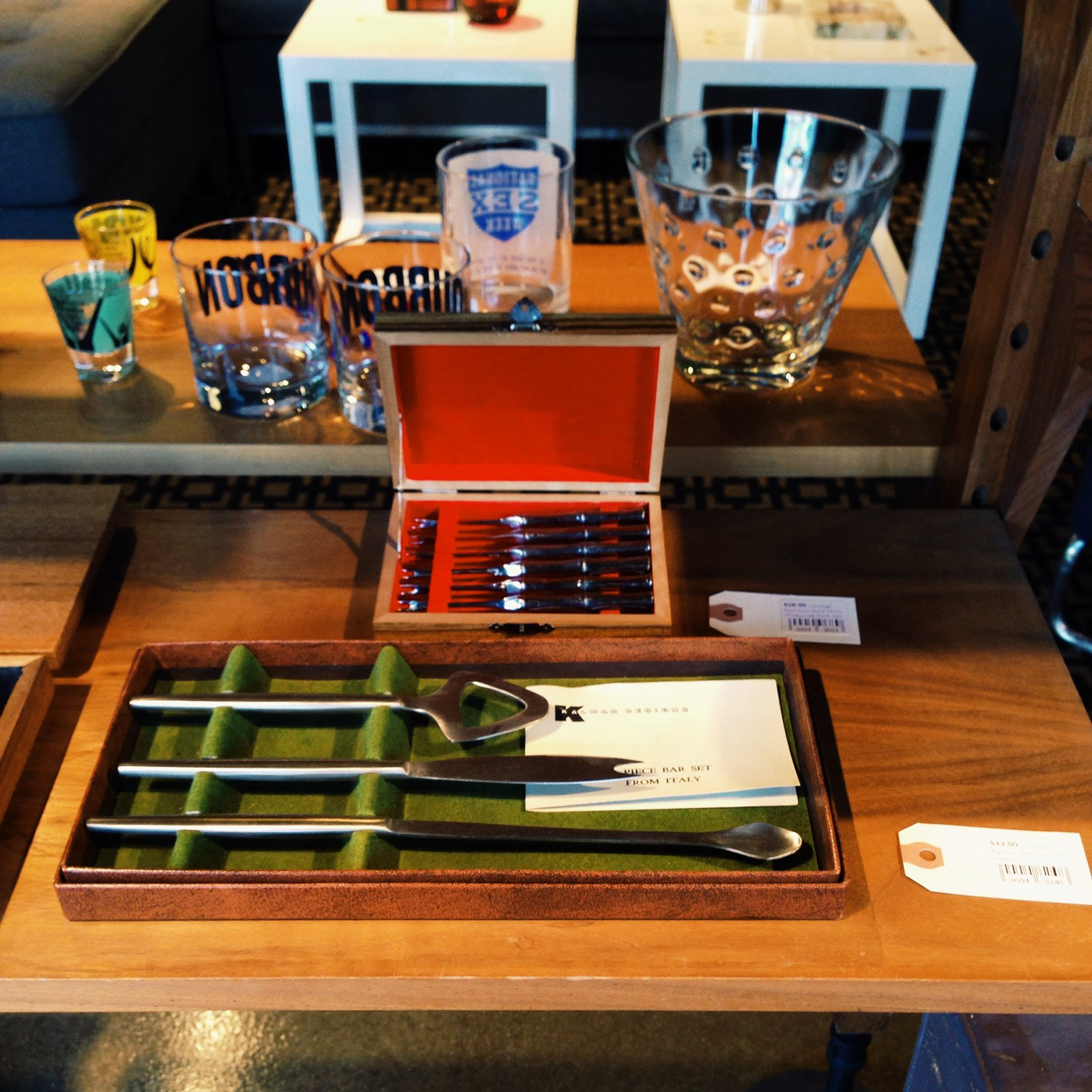 A Kalmar bar set.  Photo 3 of 4 in Shops We Love: Hugh