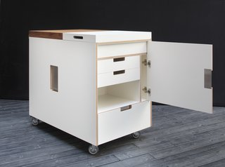 80 years  In 1934, Piero Boffi left his job with aircraft manufacturer Caproni and established Boffi, a kitchen and bathroom company dedicated to craft-like quality. Joe Colombo's 1963 Minikitchen, a large multi-functional trolley, remains one of Boffi's most popular products. Photo courtesy of Boffi.