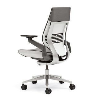 """""""You want to make sure that your feet aren't unsupported,"""" Burn says. """"If you do have the feet on the floor and your thighs aren't parallel to the floor you could be compressing the circulation in the back of your leg. Adjusting the feet to the right height is crucial."""" Gesture chair by Steelcase Design Studio in collaboration with Glen Oliver Loew, $979."""