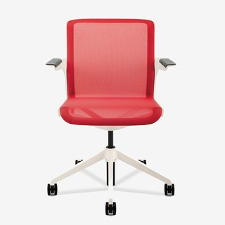 """""""If you're in a chair that has a foam or mesh back, you need to look for some level of adjustment for lumbar support to fit the curve of the chair to the curve of your back,"""" Burn says. """"Sometimes this can be done more passively where the chair automatically fits to you without you coming in to make the adjustment."""" Clarity chair by BMW Group DesignWorksUSA with Allsteel, from $750. For more foam fun..."""