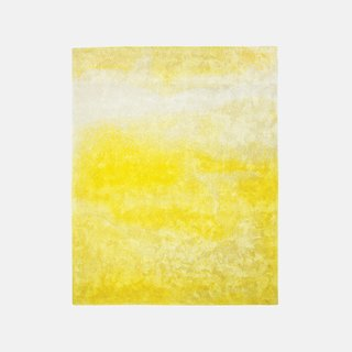 Contemplation I rug by Yasmina Benazzou for Tai Ping, price upon request.  Celebrating abstract art, the wool-and-flax carpet's golden gradient mimics the effect of diluted paint spilled on paper.