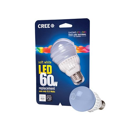 But best of all, the CREE LED Bulb emits a natural, incandescent-like light, making it a great bulb to light any space in your home. Plus, you'll feel good when using it: conversion to LED-only lighting could cut lighting-based energy consumption in half.