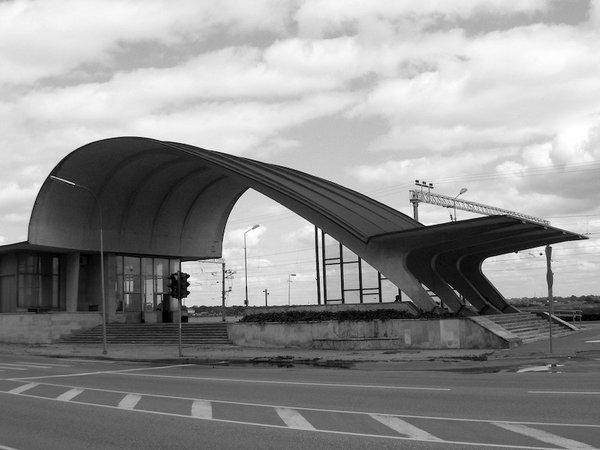 Railway Station  Architect—Ilya Yavein. Built in 1977 at Jūrmala, Latvia.  Photo by: Jānis Vilniņš, lv.wikipedia.org