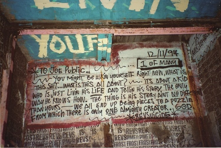 An autobiographical diary entry by the graffiti artist REVS, who scattered these pages of his life story throughout the transit system. Photo courtesy Matt Litwack.  Photo 4 of 10 in Beneath the Streets: Photos of New York's Secret Underground