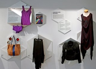 The apparel on display includes Hanky Panky's lingerie and Tabii Just's bullet-proof jacket. Photo by SITU Studio.