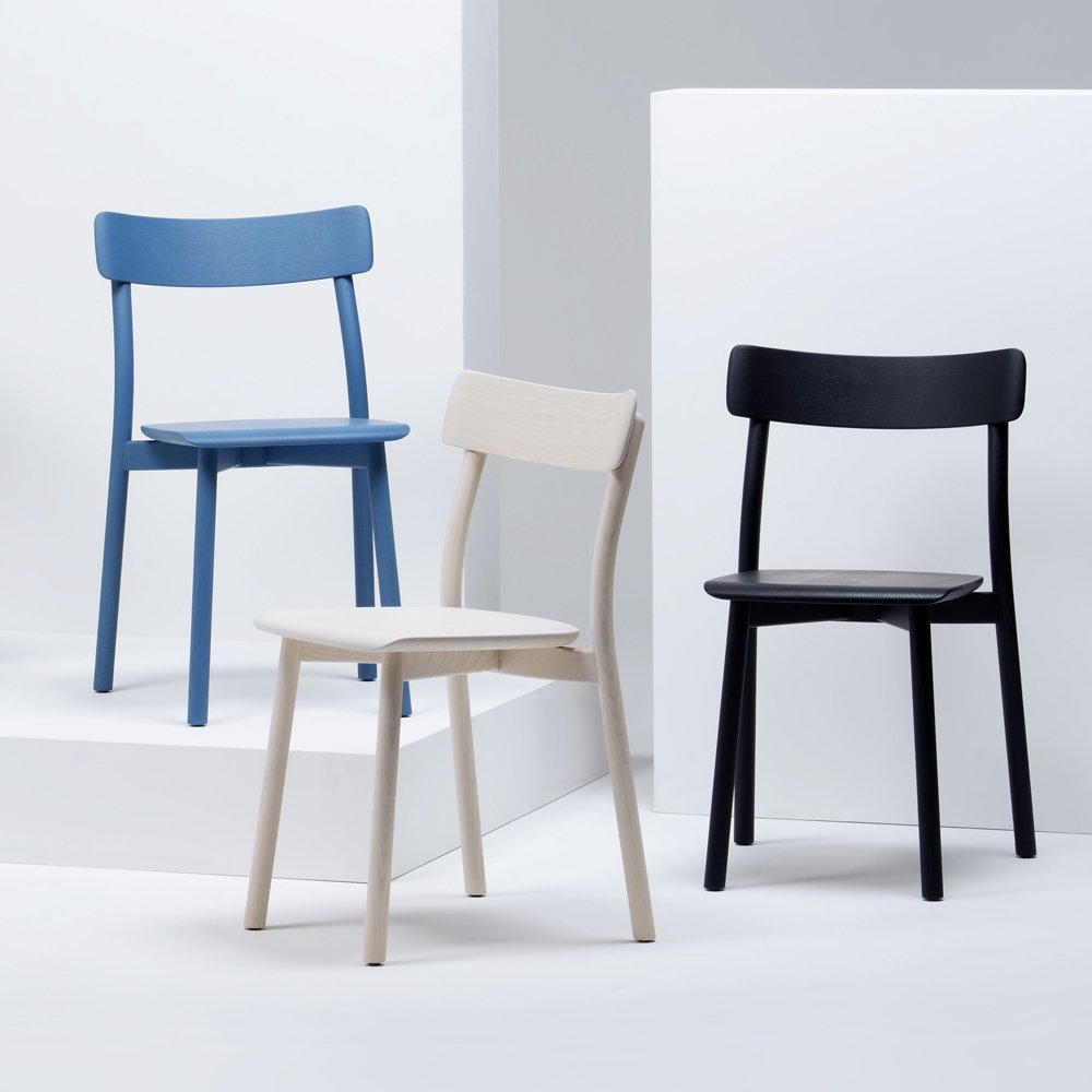 "Ransmeier's Chiaro chair for Mattiazzi is not meant as a ""radical"" chair; instead, the designer explains, ""The connections between the parts are direct and uncomplicated, and the structure under the seat (perhaps the most unique aspect of the design) evolved from an intention to simplify the joinery while reducing the total number of parts.""  Photo 2 of 5 in Chiaro Chair by Leon Ransmeier for Mattiazzi"