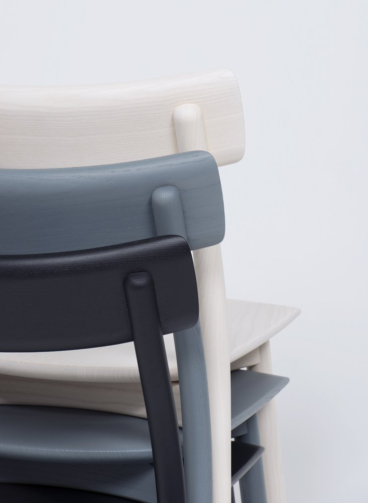 Chiaro comes with and without armrests and both versions stack for more efficient shipping and storage.  Photo 3 of 5 in Chiaro Chair by Leon Ransmeier for Mattiazzi