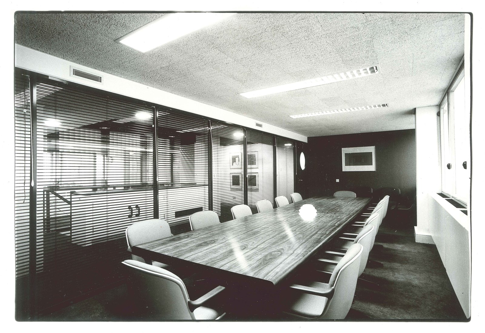 Booker McConnell Head Office  Completed in 1980, this interior overhaul was one of many Zeev Aram & Associates interior design projects.  Office