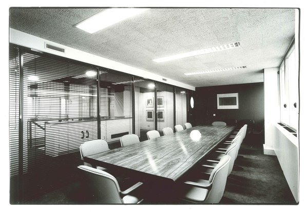 Booker McConnell Head Office  Completed in 1980, this interior overhaul was one of many Zeev Aram & Associates interior design projects.  Office from ARAM at 50: Golden Anniversary for a London Design Icon