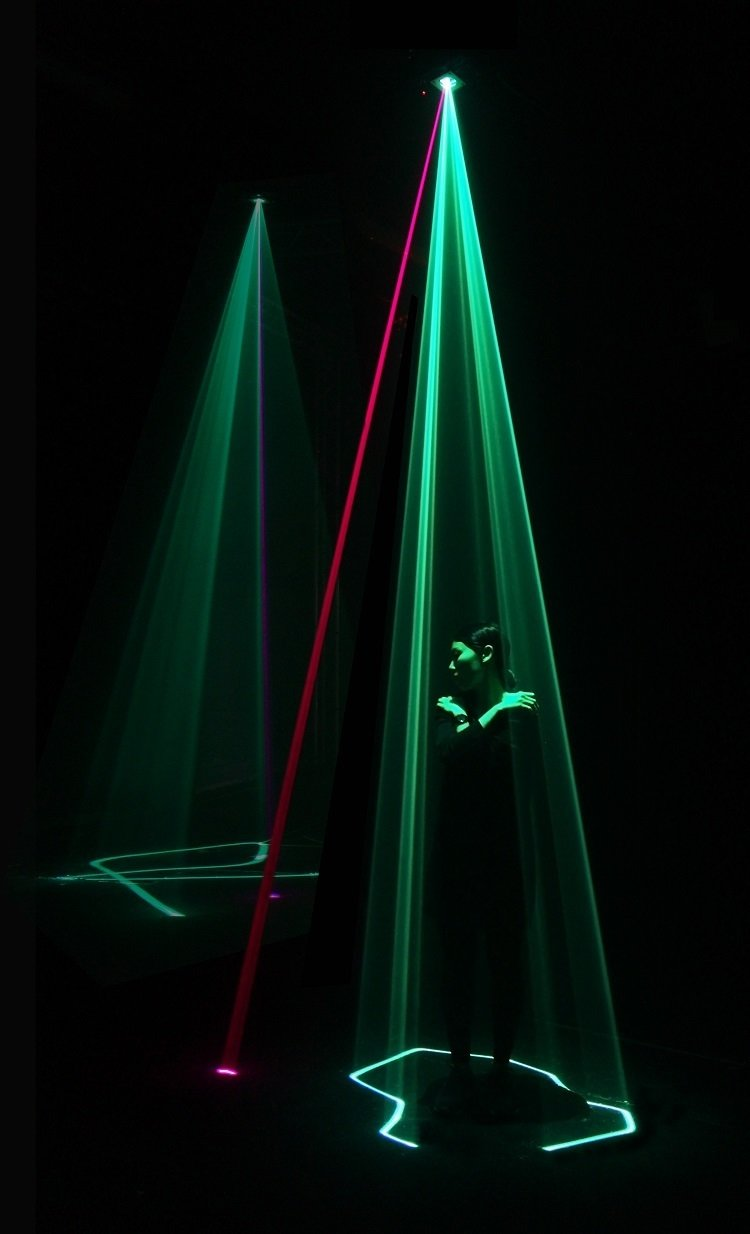 Assemblance by Umbrellium (2014)   This interactive light display by Usman Haque and Dot Samsen, their first indoors, will feature a grid of laser sculptures.  Image courtesy of Umbrellium  Photo 1 of 9 in Digital Revolution: The Immersive Future of Art and Technology