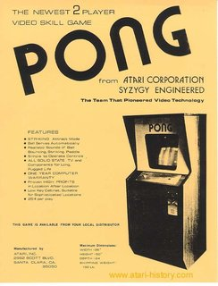 Poster for the Original Pong Arcade Game  Part of the Digital Archeology portion of the exhibition which looks to the past of digital technologies, this vintage advertisement just hints at the possibilities and potential of gaming technology.  Image courtesy of the Barbican
