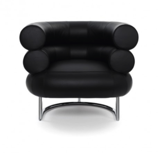 The voluptuous Bibendum chair, named after the Michelin man for its soft, comfortable cushions, is a perfect example of Gray's decorative union between Art Deco and Modernism. Combining cold, pure tubular steel with the luxury and warmth of natural leather, Gray fuses the two styles into one.
