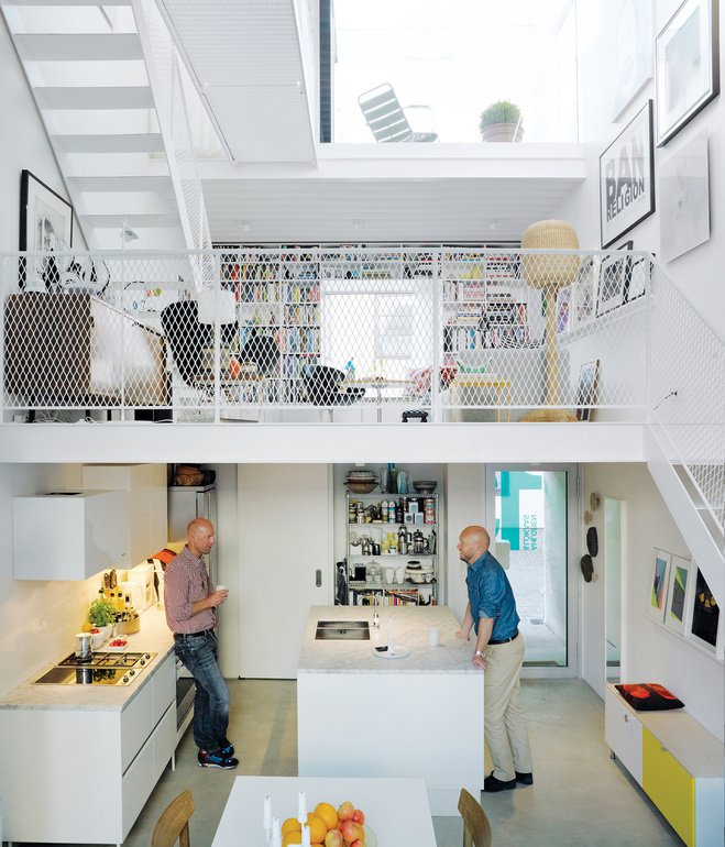 """The Scandinavian pavilion of Dwell on Design will feature photographs of houses published in the pages of Dwell—such as The Town House by architect Elding Oscarson.   Photo by Mark Seelen.  Search """"light filled metallic home embraces its wooded site"""" from Scandinavian Design at Dwell on Design"""