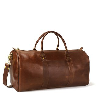 The simple Continental Duffle bag by Minnesota-based J. W. Hulme is masterfully crafted using American leather selected from small tanneries.