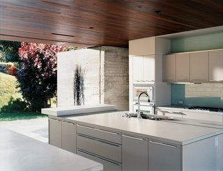The kitchen is done up in Gaggenau and Bulthaup.