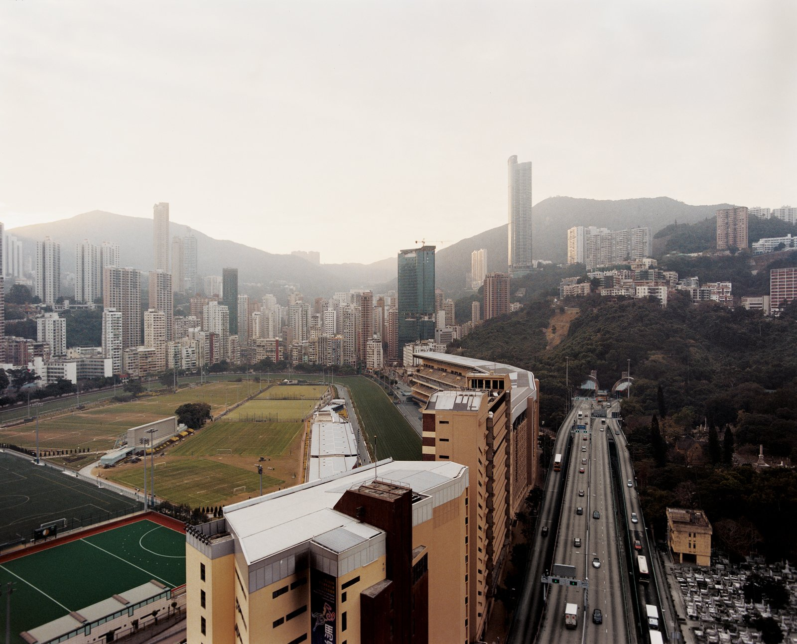 Nestled amidst the high-rises and road-ways of Hong Kong Island's Causeway Bay   district, the Happy Valley Racecourse is one of two tracks that see billions of dollars   wagered each season. Hong Kong's first official horse race was held on this site in 1846.  Photo 1 of 13 in Hong Kong, China