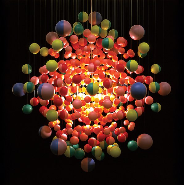 The aptly named Cosmic Burst chandelier.  Photo 3 of 13 in Design Junkie