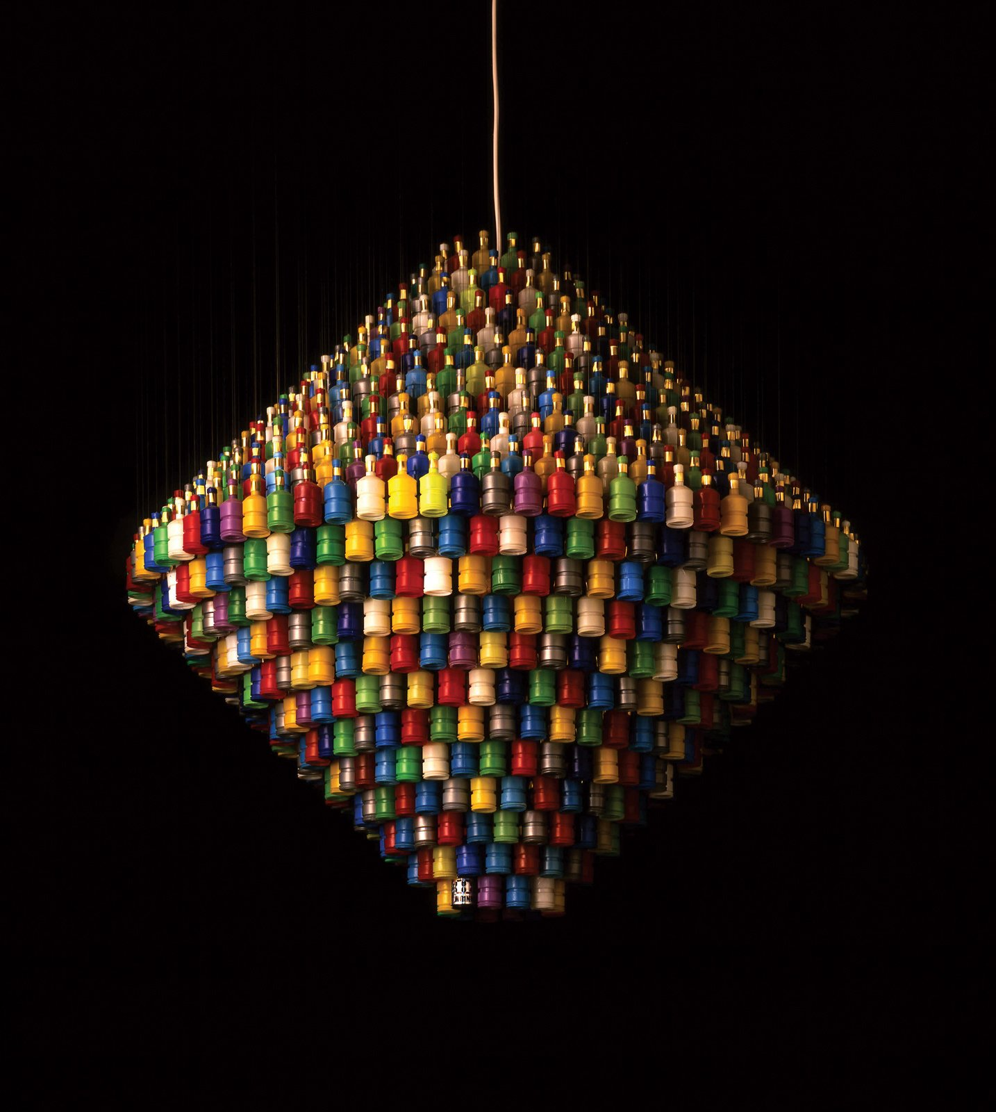 The Millennium chandelier—–1,000 spent party poppers strung up in the wake of London's 2000 New Year celebrations—–is available in ominous all-black as well.  Photo 6 of 13 in Design Junkie