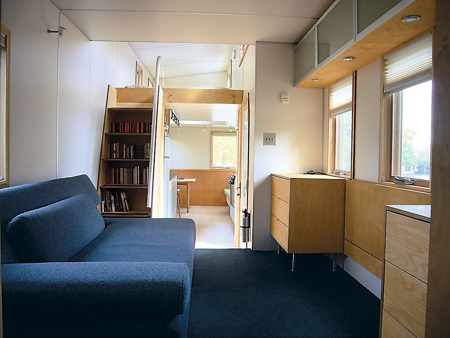 An interior shot of the miniHome, conceived by Andy Thomson.  Photo 6 of 6 in Upwardly Mobile Homes