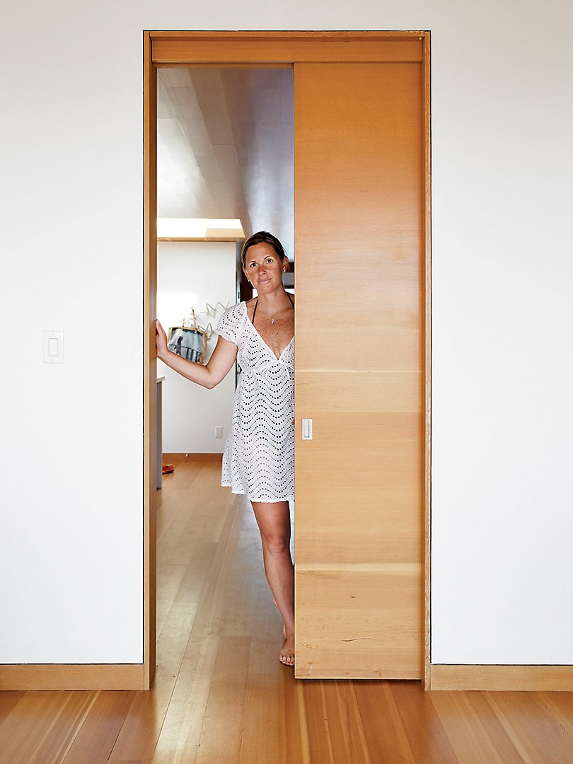 Doors, Interior, Sliding Door Type, and Wood Becca Worple.  Photo 16 of 16 in Floating House, Lake Huron