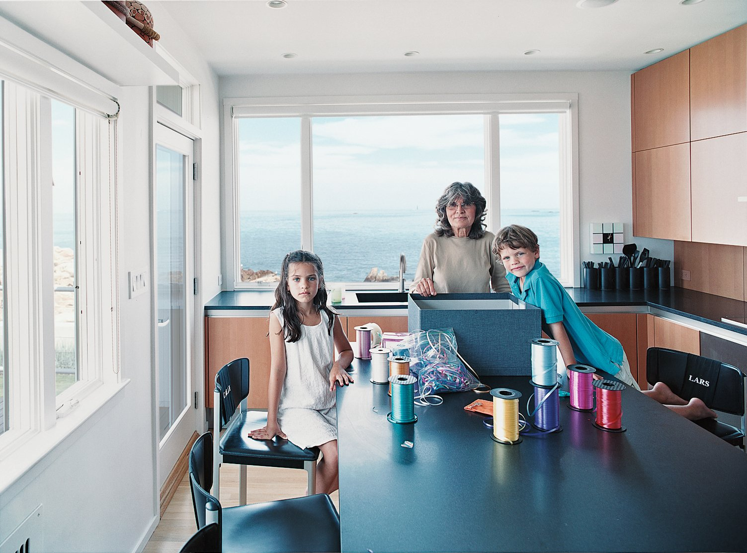 The kitchen is perfect both for eating and for doing projects.  Photo 2 of 8 in Bauhaus by the Sea