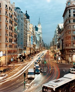 "The bustle of Gran Viá, one of Madrid's central arteries in what could just as easily be 4 AM as 4 PM, lives up to its name as ""The Grand Road."" Architectural tourists won't want to miss Gran Viá's stately Edificio Metrópolis, Edificio Grassy, or the Edificio Telefónica, which were erected in the first half of the last century."