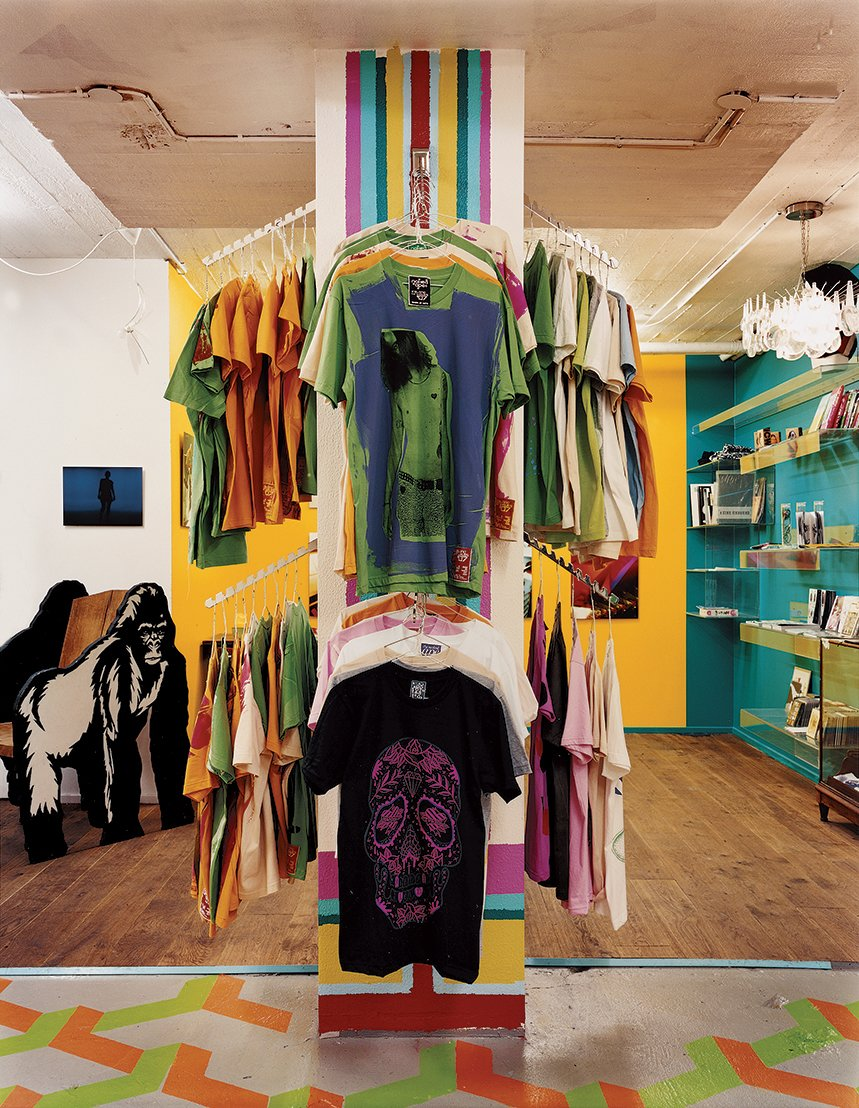The original Naked Ape shop sells inventive street clothes that are screenprinted by the store's owner and many local artists and designers.  Photo 9 of 13 in Reykjavík, Iceland