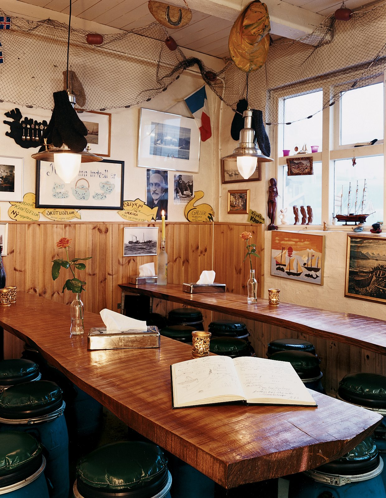 The cozy Saegreifinn Fish Shop is owned by a former fisherman, a legendary salty character who lives above the shop.  Photo 13 of 13 in Reykjavík, Iceland