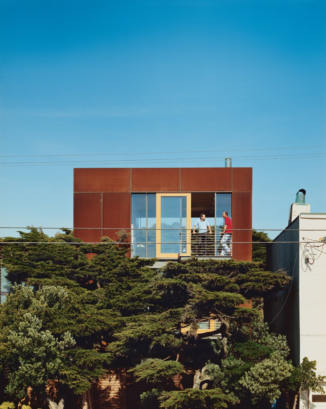 Exterior, House Building Type, and Metal Roof Material A 24-by24-foot Cor-ten-clad pavilion tops the three-story addition.  Photos from This Surfer's Beach House is More Than It Seems