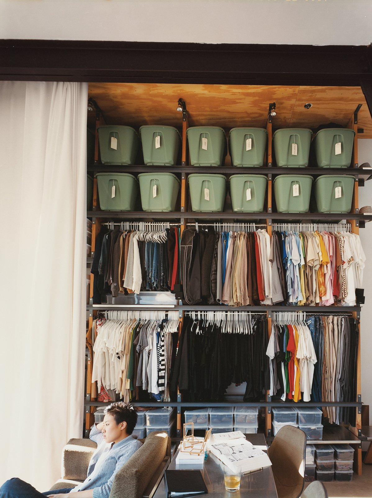 Storage Room and Closet Storage Type The Wall of Storage came after the couple moved in.  Storage from Modern Mixed Use in San Diego