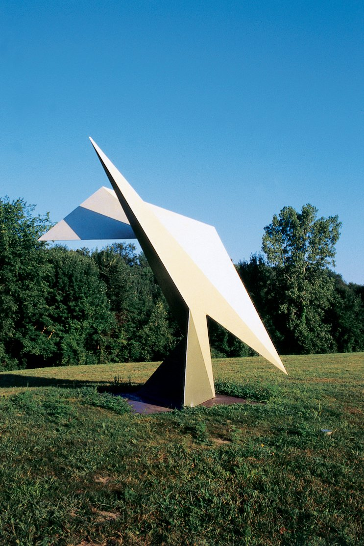 A sculpture at the nearby Ami Omi sculpture garden. The house was inspired by Richard Serra's sculpture 4-5-6-- a 90-ton behemouth at Colby College in Waterville, Maine.  Photo 4 of 9 in Escape From New York