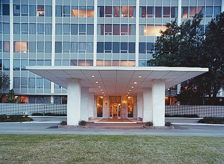 The exterior of Hill's Houston building, constructed in the 1960s.  Photo 1 of 11 in Stripped Ease