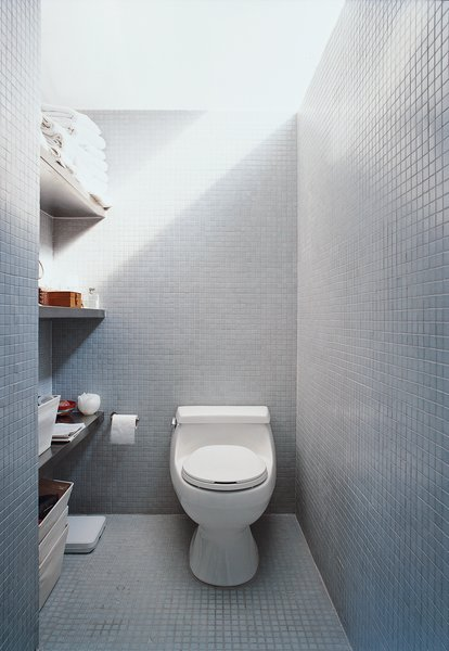 The LV prototype's bathroom shows how buyers can vary finish levels according to budget.