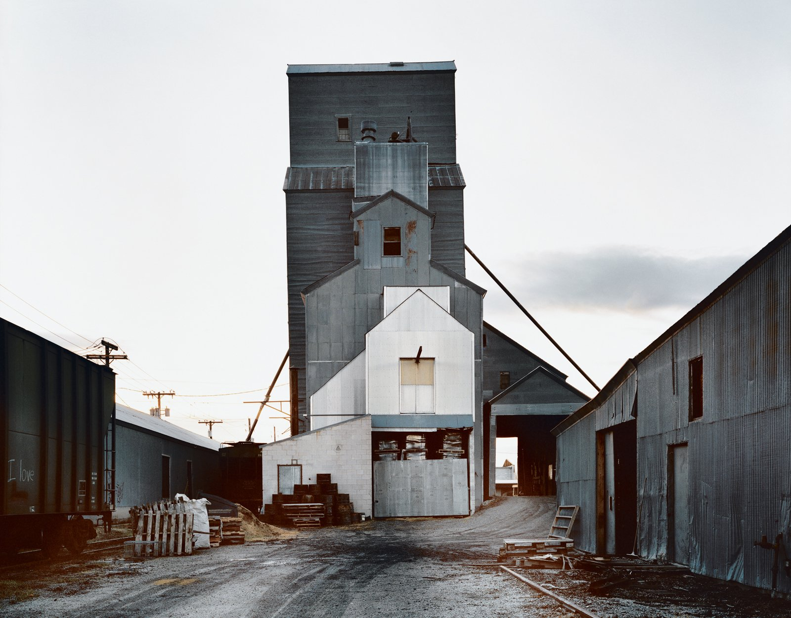 """Cho spends much of the year in Bozeman teaching at Montana State. The vernacular architecture, like the grain-storage facility shown here, provides much inspiration for his work.  Search """"byoung cho"""""""