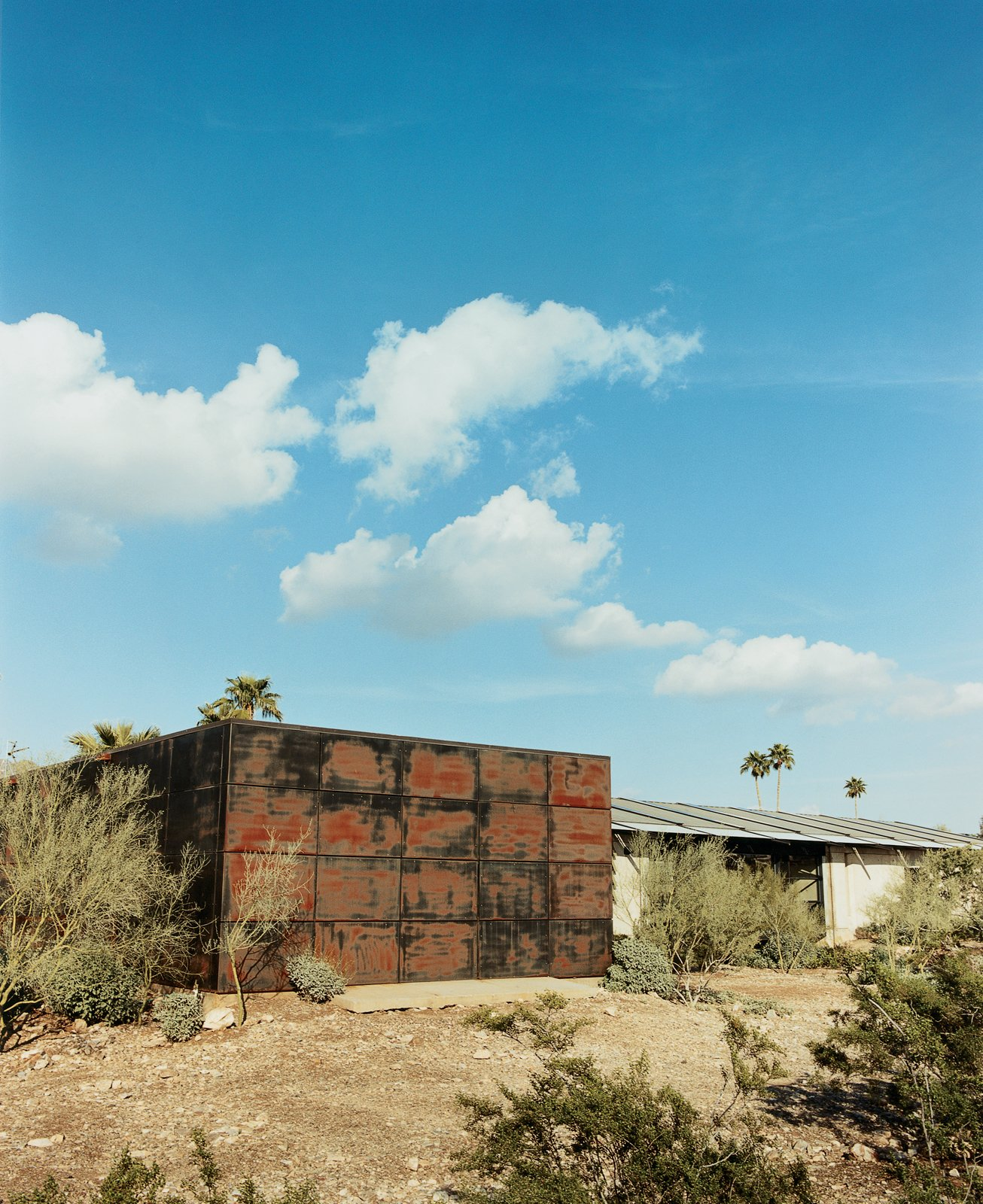 The metal shed, where Lisa Sette and her husband lived temporarily, was featured on the cover of Dwell's first issue.  Photo 2 of 11 in Love's Labors Found