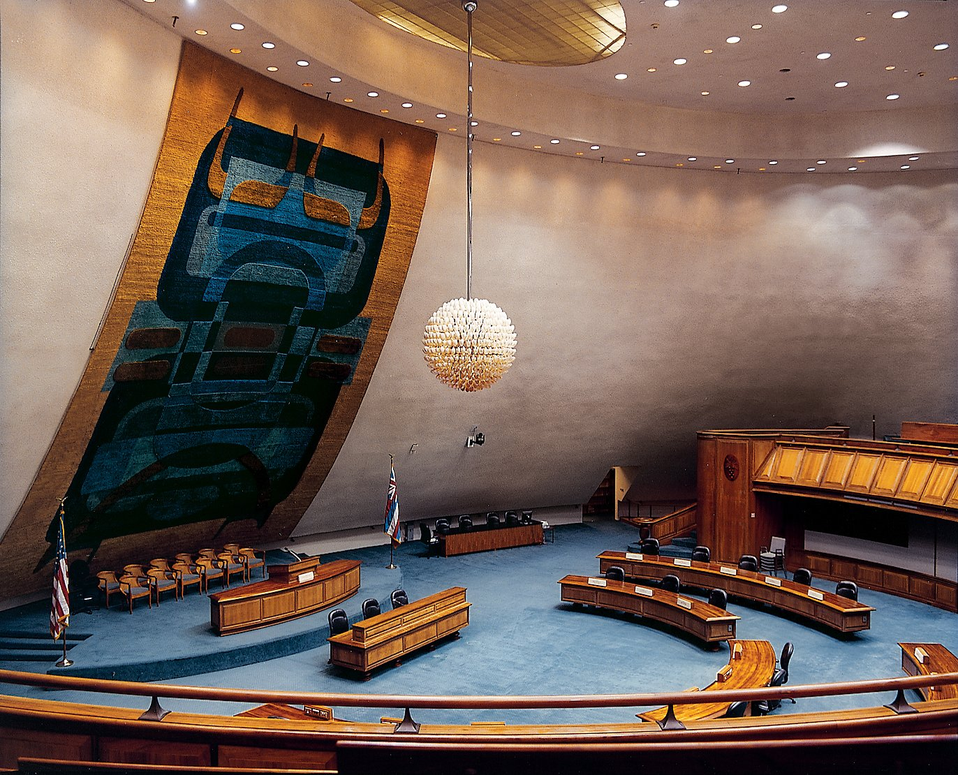 The senate chambers in the State Capitol Building were inspired by the volcanoes that formed the Hawaiian chain  Photo 3 of 16 in Honolulu, Hawaii