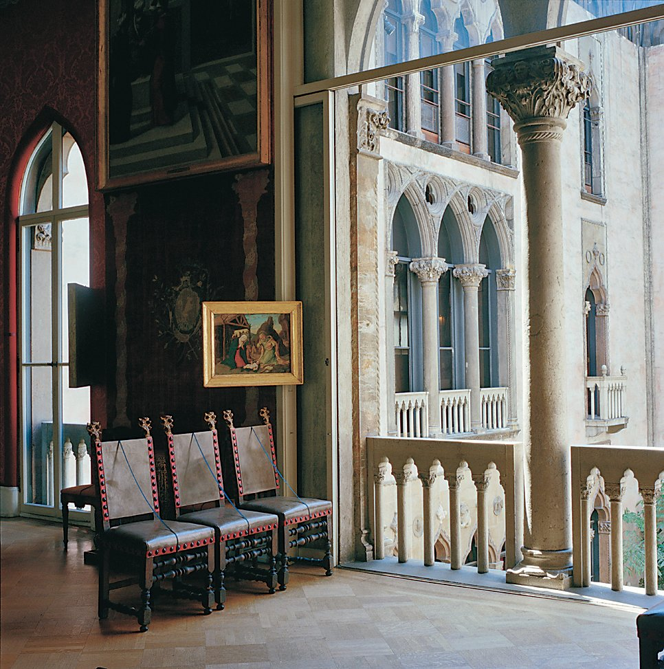 The Titian room at the Gardner Museum overlooks an interior courtyard.  Photo 11 of 12 in Boston Pops